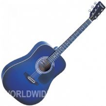 Falcon FG100BL Dreadnought Style Acoustic Guitar Blue Gloss finish - Brand New